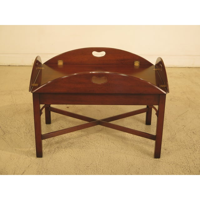 Kittinger Chippendale Mahogany Butler Coffee Table - Image 11 of 11