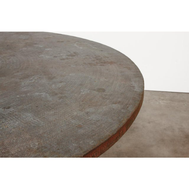 Wrought Iron and Copper Round Dining Table For Sale In San Francisco - Image 6 of 12