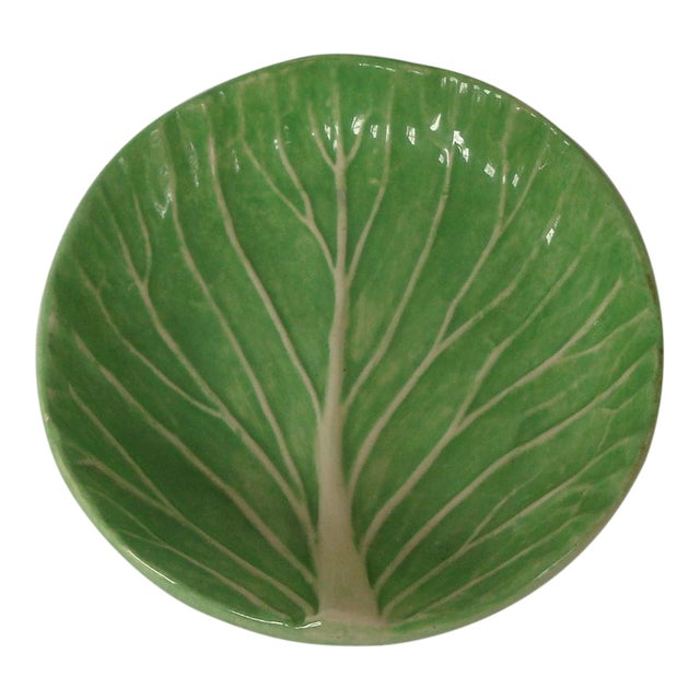 Dodie Thayer Cabbageware Lettuce Leaf Butter Pat Dish For Sale
