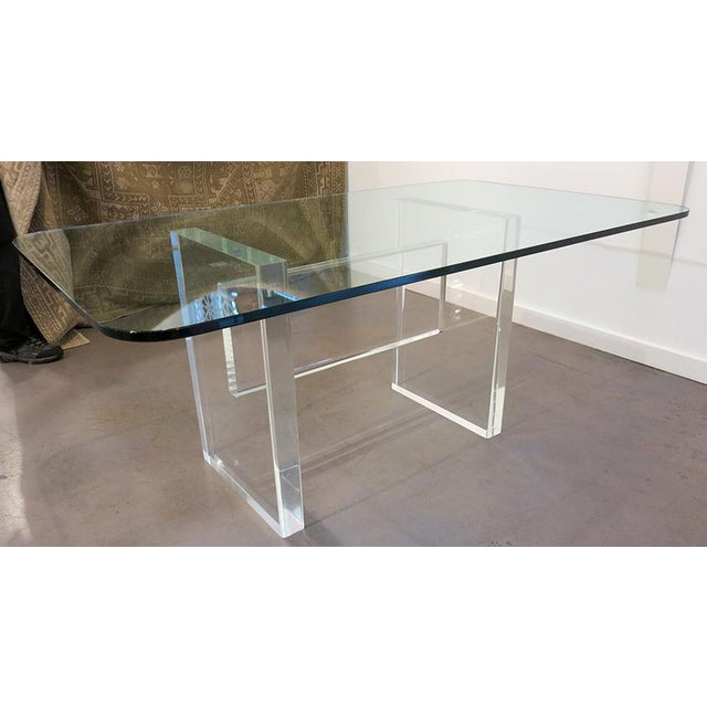 1970's Lucite Executive Desk / Dining Table For Sale In Atlanta - Image 6 of 13