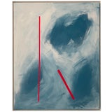 """Image of Abstract Expressionist Axel Abbott Original Acrylic Painting """"Mood Lines Viii"""" For Sale"""