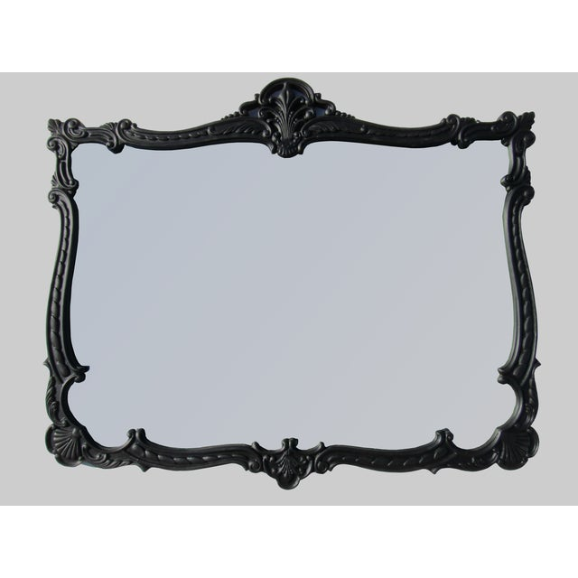 French Provincial Large Black Mirror - Image 2 of 8