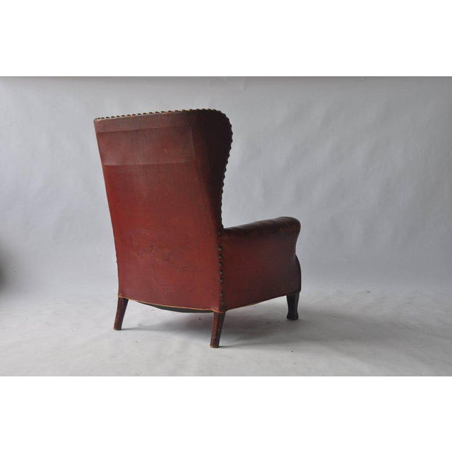 Early 20th Century Leather Lounge Chair by Otto Schulz For Sale - Image 5 of 8