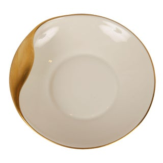 Gold Accent China Dish For Sale