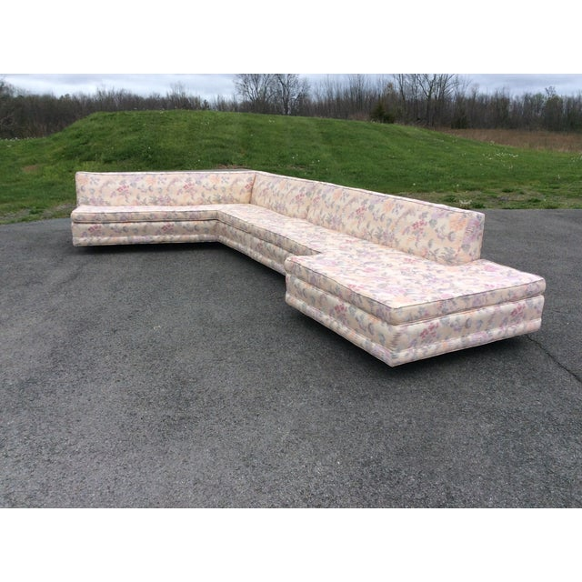 Huge Harvey Probber sectional sofa with triangle sofa table. Sofa is in great condition with no issues. Sofa was re-...