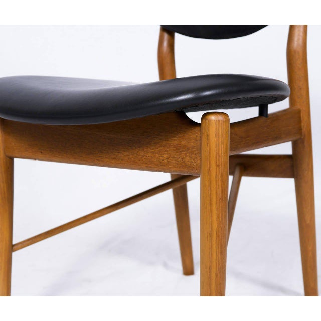 Set of Six Finn Juhl NV 55 Dining Chairs For Sale - Image 9 of 10