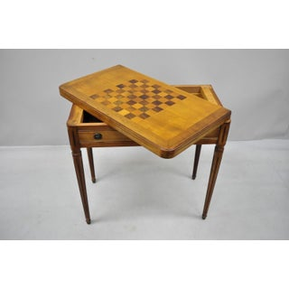 20th Century Italian Cherry Wood & Rosewood Flip Top Card Game Table Preview