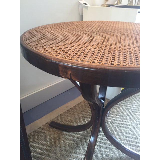 Vintage Bentwood Cane Top Table For Sale In Saint Louis - Image 6 of 6