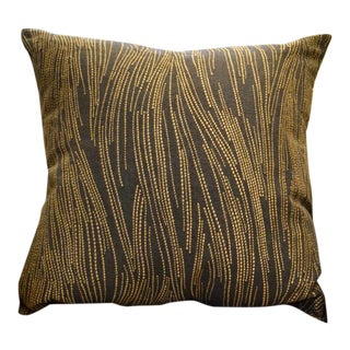 Lee Jofa Slate & Gold Throw Pillow