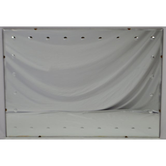 Mid Century Modern Frameless Beveled Mirror For Sale - Image 10 of 11