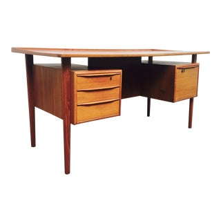 Peter Lovig Nielsen for Dansk Danish Teak Executive Floating Desk For Sale