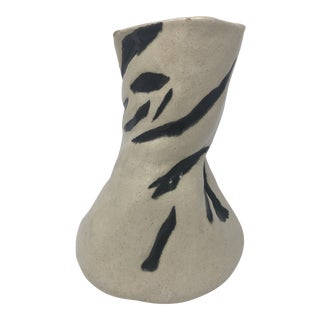 Free Form Abstract Ceramic Vase For Sale