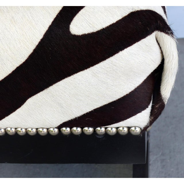 """Barclay Butera Home """"Bel Air"""" Ottoman With Zebra Print Upholstery For Sale In Miami - Image 6 of 9"""