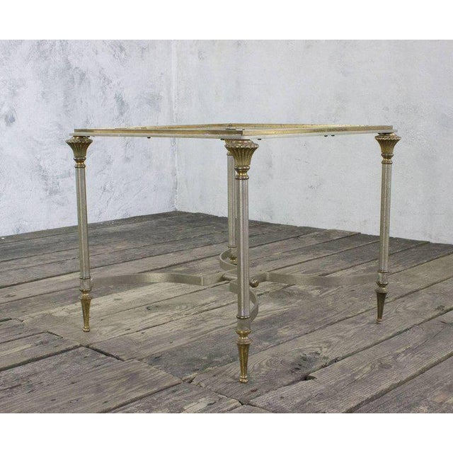 Small Italian Steel and Glass End Table - Image 8 of 11