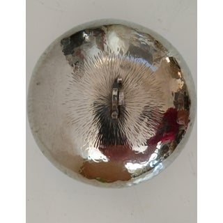 Vintage Handmade Round Silver Covered Box Preview
