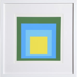 Josef Albers - Portfolio 1, Folder 5, Image 2 Framed Silkscreen For Sale