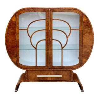 1920's Art Deco Circular Display Cabinet For Sale