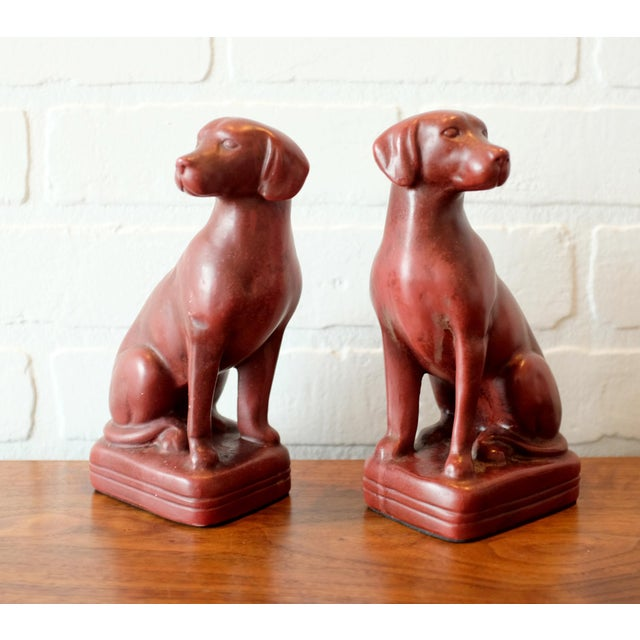 Americana Vintage Red Dog Bookends - a Pair For Sale - Image 3 of 9