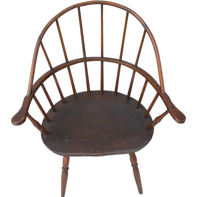 New England Bow-Back Windsor Arm Chair - Image 1 of 8