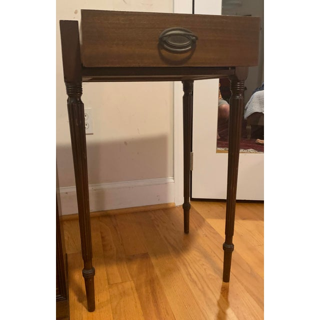 Wood 18th Century Victorian Generals Field Writing Desk For Sale - Image 7 of 8
