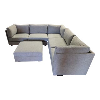 Mid Century Style Custom Modular Sofa For Sale