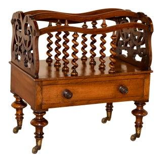 19th Century English Mahogany Canterbury For Sale