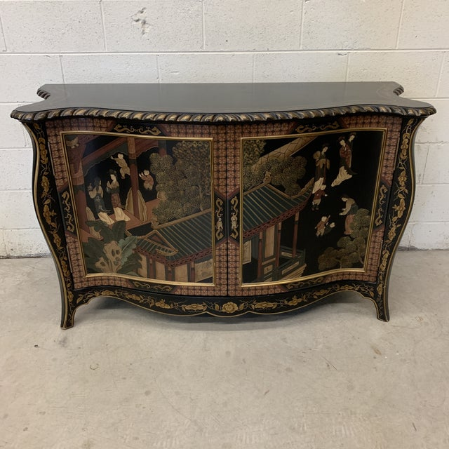 Asian Style Credenza Server Black Lacquer For Sale - Image 13 of 13