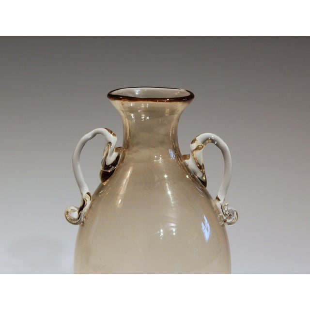 Tan 1920s Vittorio Zecchin for Cappellin & Venini Murano Glass Vase For Sale - Image 8 of 11