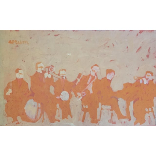 Mid Century Bay Area Figurative Musicians Painting - Image 1 of 10
