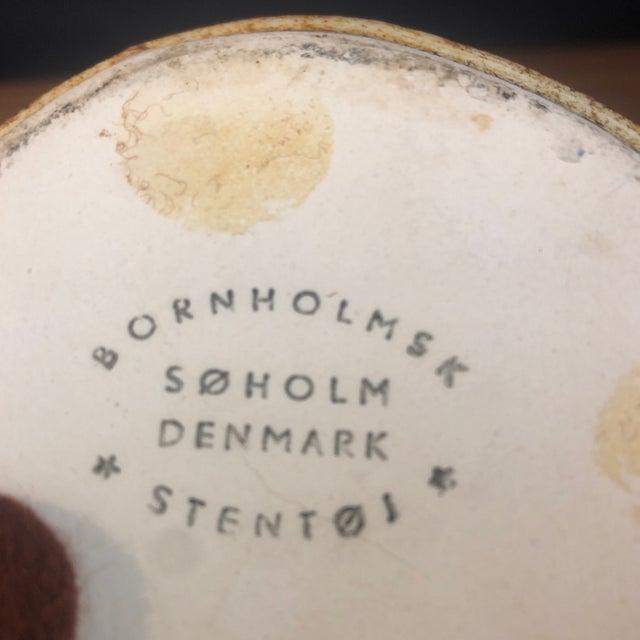 Bornholmsk Søholm Stentøj Danish Mid Century Modern Pottery Vase For Sale - Image 4 of 5