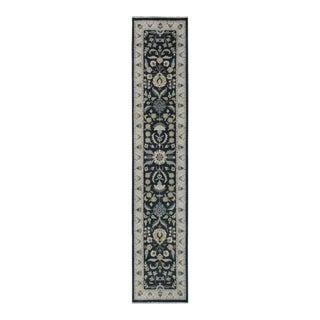 "Kafkaz Peshawar Jeramy Black & Ivory Wool Rug - 2'8"" x 13'7"""
