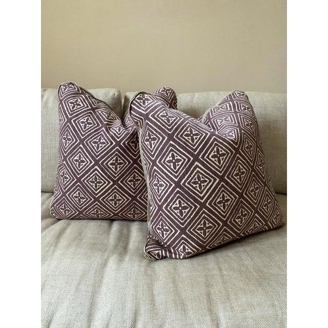 Transitional Quadrille China Seas Designer Made Fiorentina Throw Pillows - a Pair For Sale - Image 3 of 13