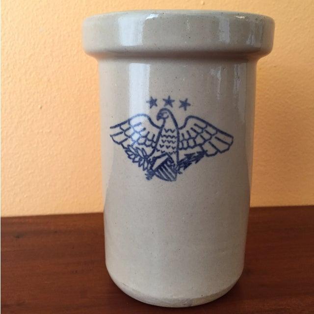 Vintage American Eagle Salt Glaze Crock - Image 2 of 9