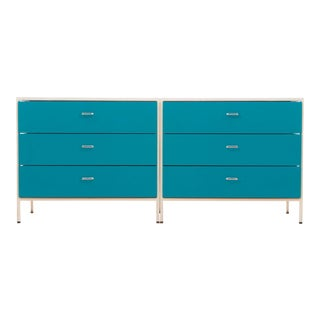 Pair of George Nelson Steel Frame Dressers For Sale