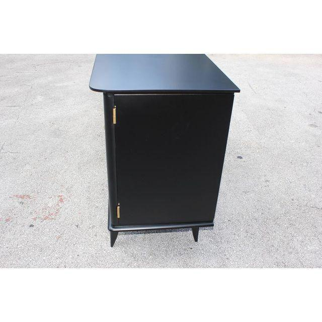Beautiful Vintage French Art Deco Ebonized Sideboard / Buffet 1940s - Image 6 of 11