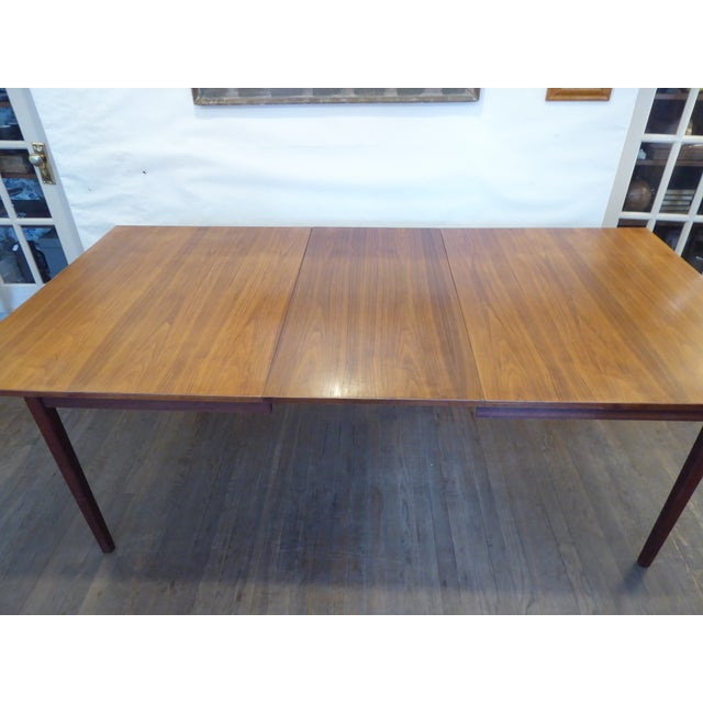 Vintage Modern Walnut Dining Table For Sale In Boston - Image 6 of 8