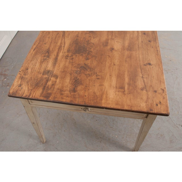 19th Century English Painted Pine Farm Table For Sale - Image 4 of 10