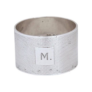 1939 Heavy English Sterling Napkin Ring For Sale