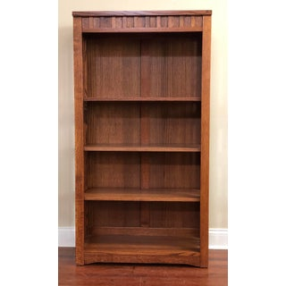 Mission Cherry Finish Solid Oak Bookcase Preview