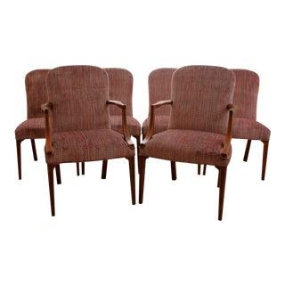 Vintage Upholstered Kittinger Dining Chairs - Set of 6 - Modernized & Updated