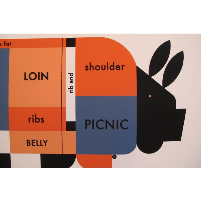 About this poster: This poster is an accurate porcine cut chart that Raymond Biesinger created recently - his piggy...
