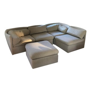 Milo Baughman for Thayer Coggin Sectional in Creamy Wool For Sale