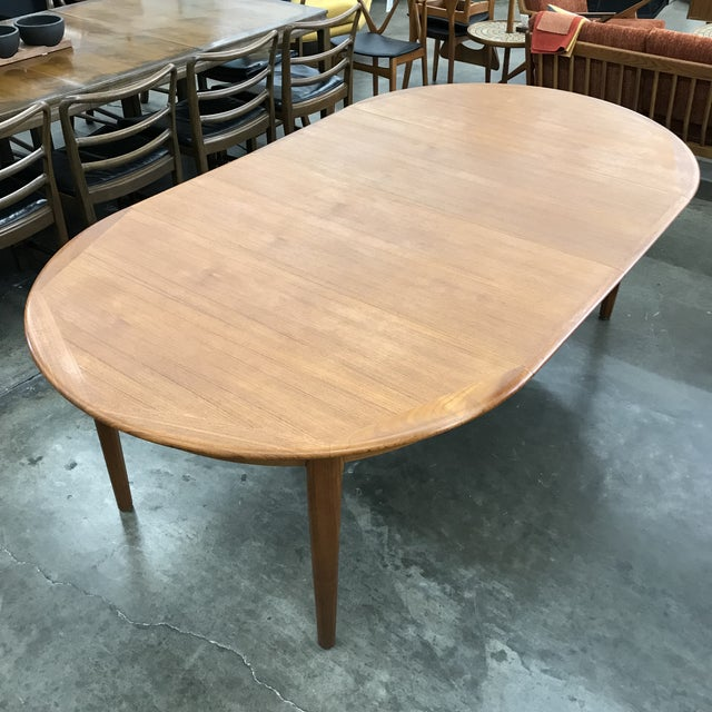 Teak Danish Teak Round/Oval Dining Table by Falster For Sale - Image 7 of 13