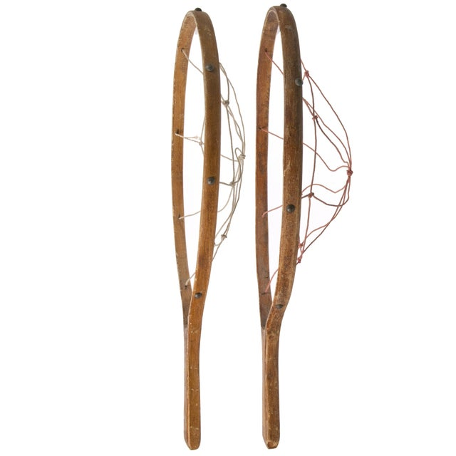 Vintage Wood Game Racquets - Pair - Image 2 of 2