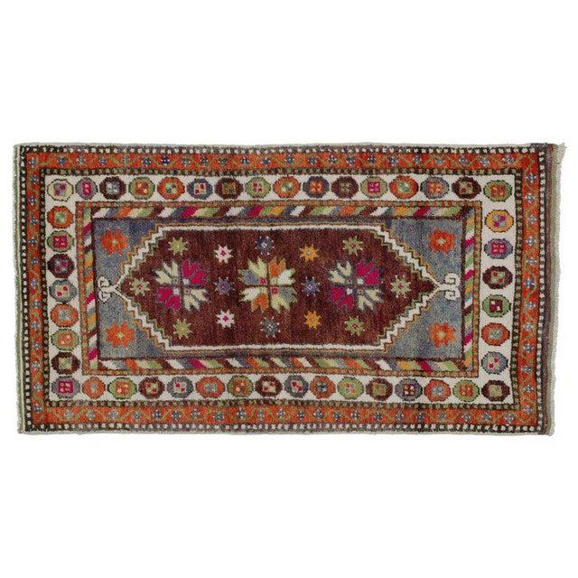1970s Vintage Turkish Oushak Rug - 2′6″ × 4′6″ For Sale - Image 4 of 5