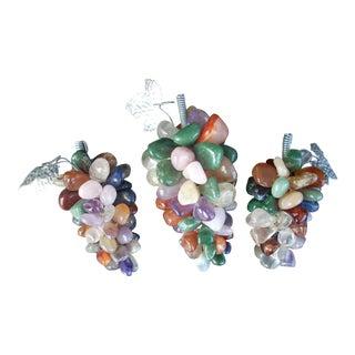 Quartz Pebble Grape Clusters - Set of 3