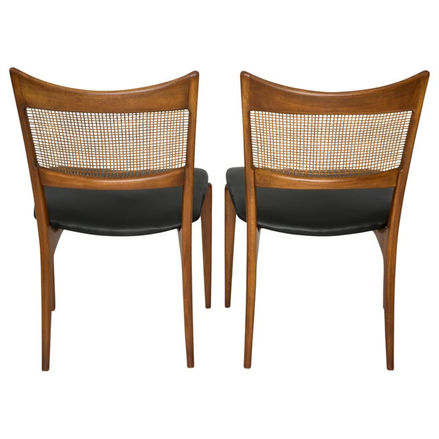 Jens Risom Style Woven Back Chairs - Pair - Image 2 of 9