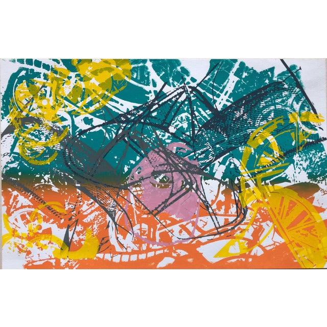 """Paper 1970s Abstract Silkscreen """"Orange Slices"""" For Sale - Image 7 of 7"""