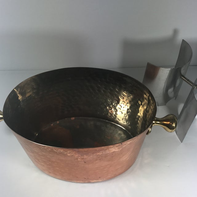 Vintage Copper Double Champagne Bucket For Sale - Image 11 of 11