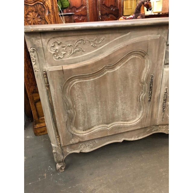 French 19th Century French Louis XV Graphite Washed Enfilade For Sale - Image 3 of 8